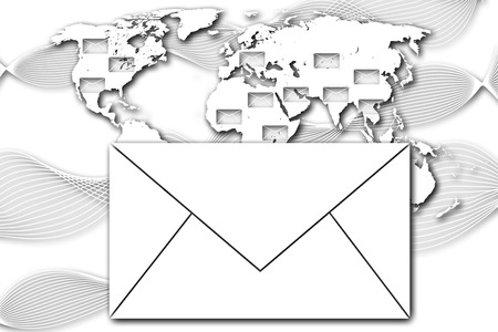 letter with black and white world background  photo