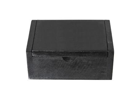 black box closed on isolated  photo