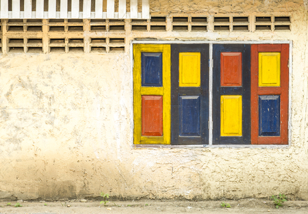 vintage colorful windows  photo