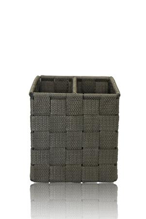 black basket on isolated  photo