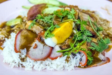 BBQ Pork and Crispy Pork with Rice  photo