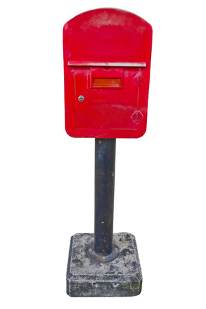 red post box  photo