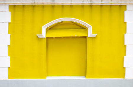 Yellow wall background  photo