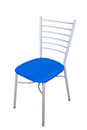 blue chair on isolated  photo