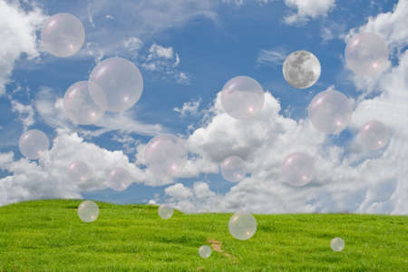 cloude: green give oxygen  Stock Photo