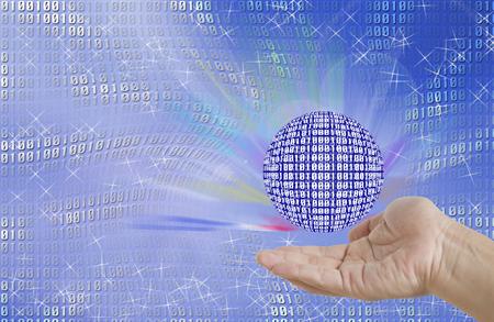 digi: binary world and hand