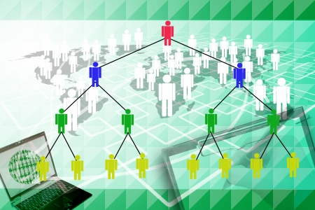 human network marketing background  photo