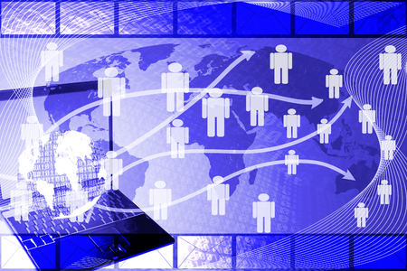 human network marketing background  photo