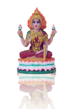 Lakshmi Statue on isolated  photo
