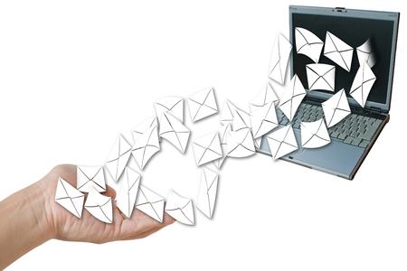 penfriend: laptop send letter to hand