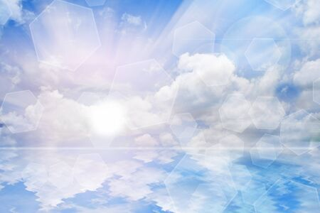 Sky Reflection surface  photo