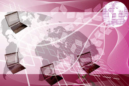 correspond: laptop send letter Background