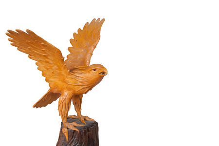 Statue of a golden eagle  photo
