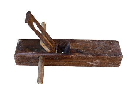 rabbet: old vintage wooden rabbet plane on a white background  Stock Photo