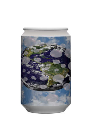 the air fresh: The can of air fresh  Photo of earth  Stock Photo