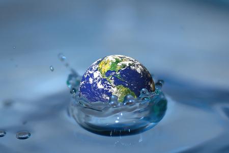 honeycomb like: The earth falls into water  Earth flood