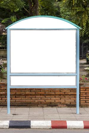 portative: Il cartellone esterno bianco su sfondo bianco isolato