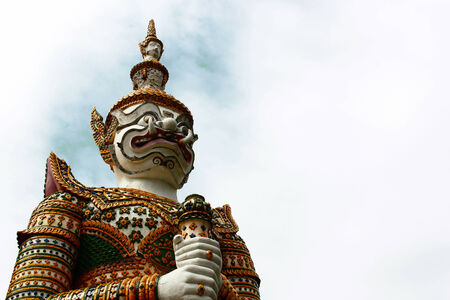Statue Giant in Wat Arun photo