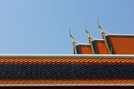 uniqueness: Uniqueness of Thailand expressed through the temple architecture. Stock Photo