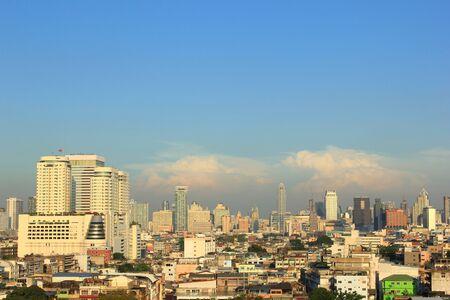 aerial view city: aerial view city in bangkok at thailand Stock Photo