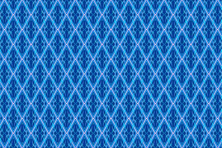 blue diamond: vector of abstract vintage pattern in seamless style on blue diamond shaped quadangle Illustration