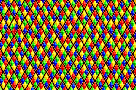 diamond shaped: vector of colorful diamond shaped quadrangle pattern Illustration