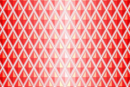 diamond shaped: vector and illustration of red diamond shaped quadrangle Illustration