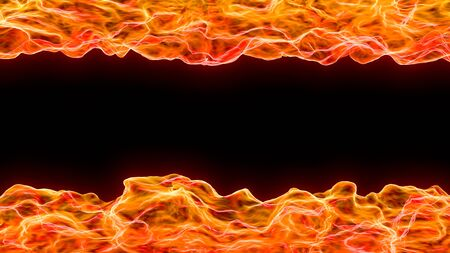 3d art abstract background of flame and heat wave from above and below Stock Photo