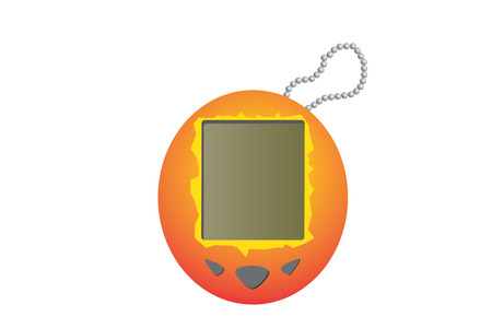 nineties: 1990s tamagochi Illustration