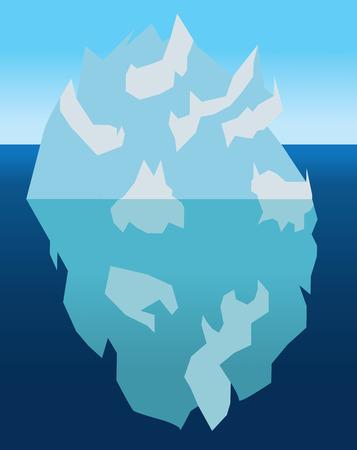 berg: Iceberg with underwater part , simple