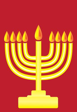 menora: Happy Hanukkah, The Hanukkah menorah simple popart