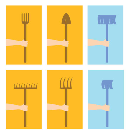 Winter,Autumn and Summer tools set simplified Vector