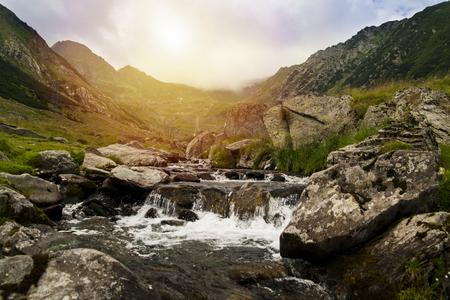 TRANSFAGARAN ROMANIAN LANDSCAPE WATERFALL