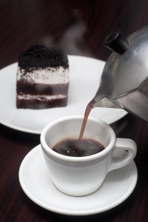 Coffee cup mocha pot