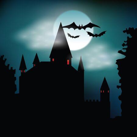 Halloween illustration  background.