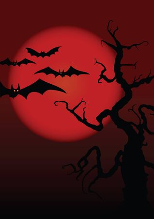 viewfinderchallenge1: Halloween illustration on moon background.  Illustration