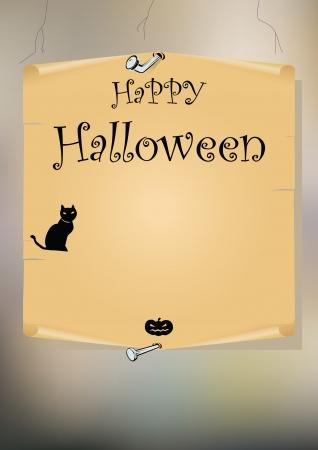 Halloween illustration  background. Illustration