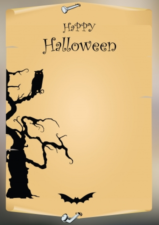 Halloween illustration  background.  Vector