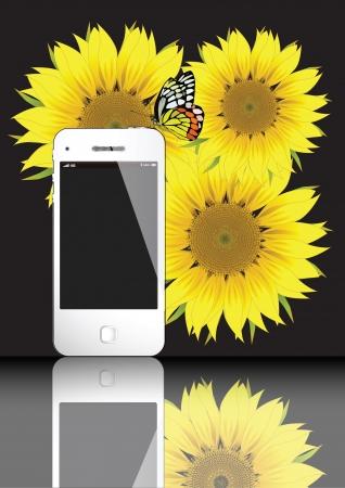 4G WHITE SMART PHONE VECTOR EPS10