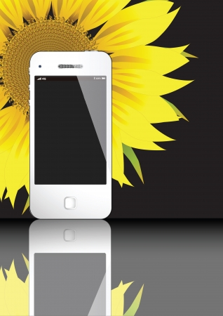 4G WHITE SMART PHONE CONCEPT VECTOR ART ILLLUSTRATOR EPS10 Illustration