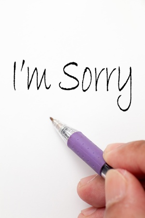 i am sorry hand write writing writing note note