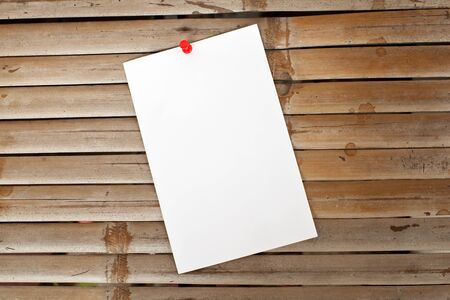 office paper on old bambo background Stock Photo - 15826127