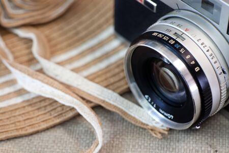 Still life with romantic vintage camera