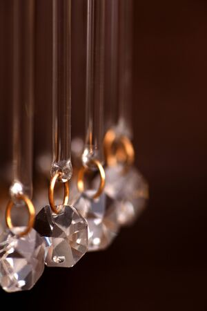 crystal strass lamp white over luxury interior design Stock Photo