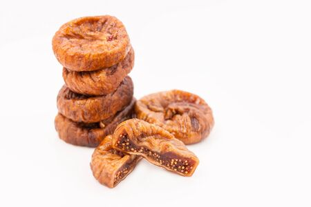 Dried figs isolated on a white background Stock Photo