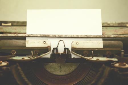 old vintage: Antique Typewriter. Vintage Typewriter Machine Closeup Photo. Stock Photo