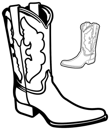 old cowboy: Vector Cowboy Boot