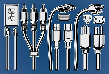plug: Vector Cables and Plugs