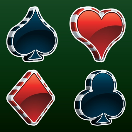 card: Vector Card Suit Icons