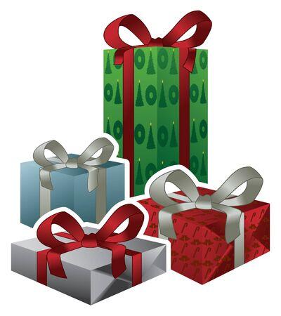 벡터 크리스마스 선물 일러스트
